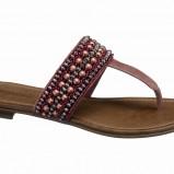 bordowy sandały Deichmann - lato 2011