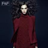 bordowy sweter F&F z golfem - kolekcja jesienno-zimowa