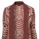 bordowy sweter Topshop we wzory - wiosenna kolekcja