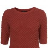 bordowy sweter Topshop - wiosna-lato 2011