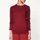 bordowy sweter ZARA - jesień/zima