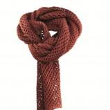 bordowy szalik Orsay ażurowy - jesień/zima 2012/2013