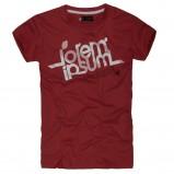 bordowy t-shirt Reserved z napisami - sezon wiosenny