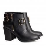 botki H&M w kolorze czarnym - jesienne obuwie
