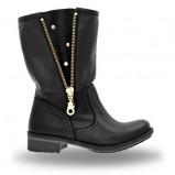 botki Wojas w kolorze czarnym - obuwie na jesień 2013