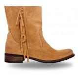 botki Wojas z frędzlami w kolorze brązowym - obuwie na zimę 2013/14