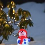 Bożonarodzeniowe oświetlenie bałwanek - gwiazdka 2013