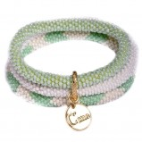 bransoletka Baji w odcieniach zieleni - modne dodatki