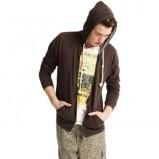 brązowa bluza Pull and Bear z kapturem - kolekcja wiosenno/letnia