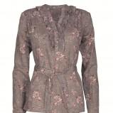 brązowa bluzka Top Secret w kwiaty - kolekcja jesienna