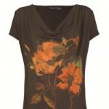 brązowa bluzka Top Secret z nadrukiem - kolekcja jesienna