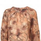 brązowa bluzka Topshop we wzory - trendy wiosna-lato