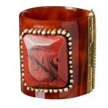 brązowa bransoletka H&M - z kolekcji wiosna-lato 2011