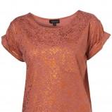 brązowa koszulka Topshop - wiosenna kolekcja