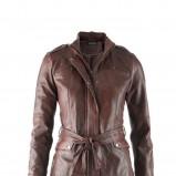 brązowa kurtka C&A ze skóry  jesień/zima 2012/13
