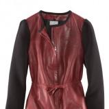 brązowa kurtka H&M ze skóry - jesień 2011