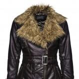 brązowa kurtka New Yorker z futerkiem - moda jesień/zima 2010