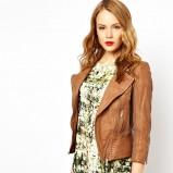 brązowa ramoneska Asos - kurtki na wiosnę