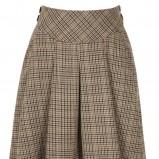 brązowa spódnica Next w kratkę - trendy zimowe
