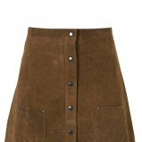 brązowa spódnica z zamszu - wiosna/lato 2011