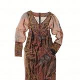brązowa sukienka C&A we wzory - z kolekcji jesień-zima
