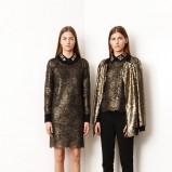 brązowa sukienka DKNY - moda na wiosnę 2014