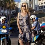 brązowa sukienka Greenpoint w kwiaty - trendy wiosna-lato
