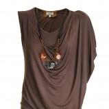brązowa sukienka - lato 2012