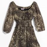 brązowa sukienka Orsay w panterkę - kolekcja jesienno-zimowa