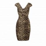 brązowa sukienka Pretty Girl w panterkę - moda 2010