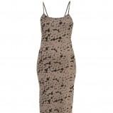 brązowa sukienka Topshop na ramiączkach - trendy na jesień-zimę