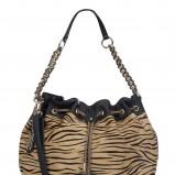 brązowa torebka New Look w zwierzęce wzory - wiosna/lato 2012
