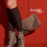 brązowe botki Bershka na wysokim obcasie - jesień/zima 2010/2011