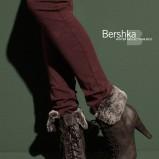 brązowe botki Bershka z futerkiem - kolekcja jesienno-zimowa