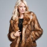 brązowe futro H&M - zima 2011/2012