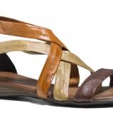 brązowe sandałki Badura płaskie - trendy na lato 2013