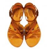 brązowe sandały Venezia - moda wiosna/lato