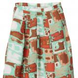 brązowe spodnie H&M we wzory - wiosna/lato 2012