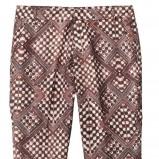 brązowe spodnie H&M z wzorami - wiosna/lato 2012