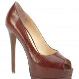 brązowe szpilki Kazar - moda 2012