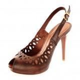 brązowe szpilki Prima Moda - moda 2011/2012