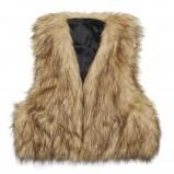 brązowy kardigan Butik futrzana - zima 2011/2012