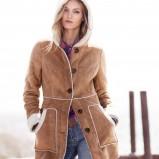brązowy kożuch H&M - zima 2011/2012