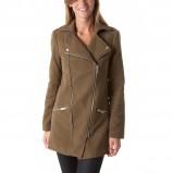 brązowy płaszcz Promod - jesień 2013