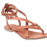 brązowy sandały Quazi - lato 2011