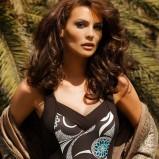 brązowy strój kąpielowy Feba we wzory - moda 2011