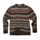 brązowy sweter Big Star w paski - jesień/zima 2010/2011