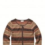 brązowy sweter C&A we wzory rozpinany - z kolekcji jesień-zima