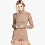brązowy sweter H&M - moda na jesień 2013