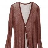 brązowy sweter H&M - wiosna-lato 2011